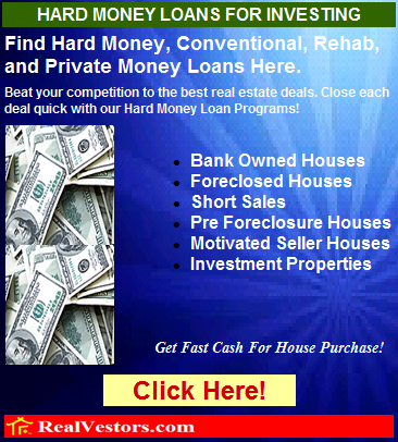 Hard Money Loans For Real Estate Investing
