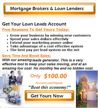 mortgage broker loan lender hard money private money  leads